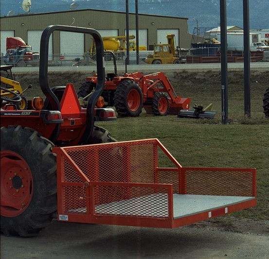 Tractor With Platform : Walker manufacturing farm ranch
